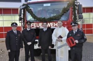 Übergabe Feuerwehrauto