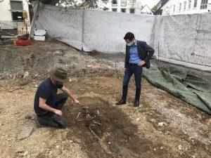 Umbau des Kloster- und Rathausplatzes – Ausgrabung