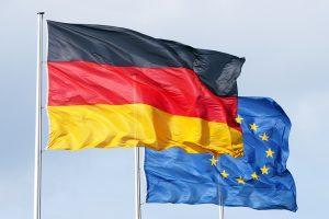 Deutschland- & Europa-Flagge